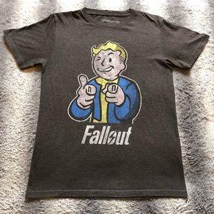 Fallout Tee Shirt Men's Small Grey